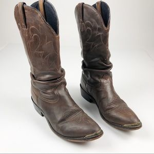 VTG Men's Cats Paw Heels Western Leather Boots